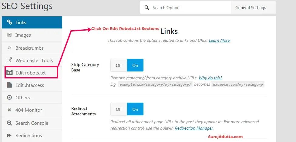Edit WordPress Robots.txt Sections