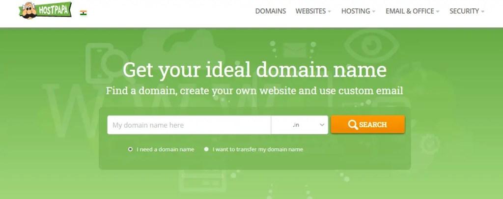 Hostpapa Domain Registrations Services