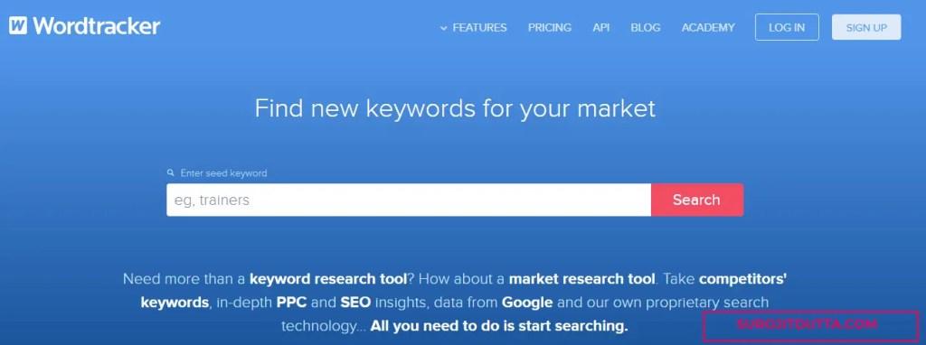 Wordtracker- Free Keyword Research Tools