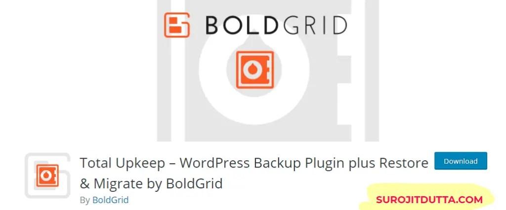 Total Upkeep- Another WordPress Backup Plugins