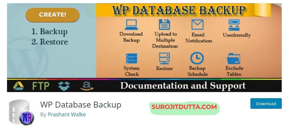 WP Database Backup- WordPress Backup Plugins