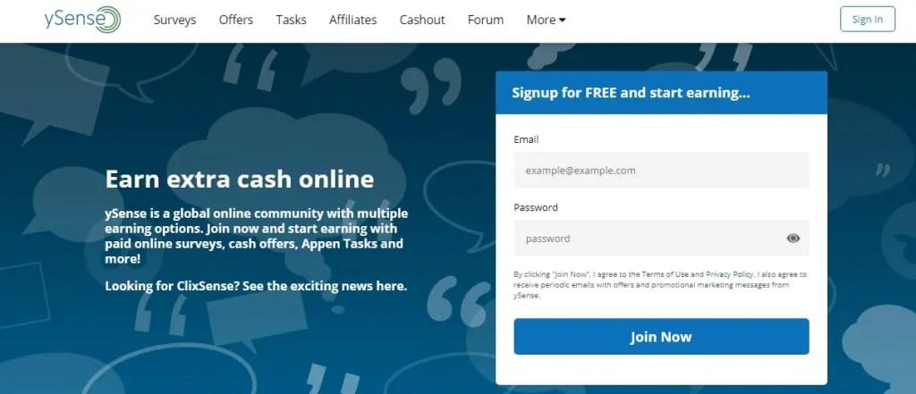 Ysense-Best Online Surveys That Pay Cash