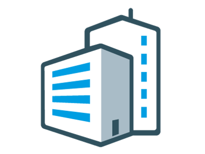 Test centre building icon