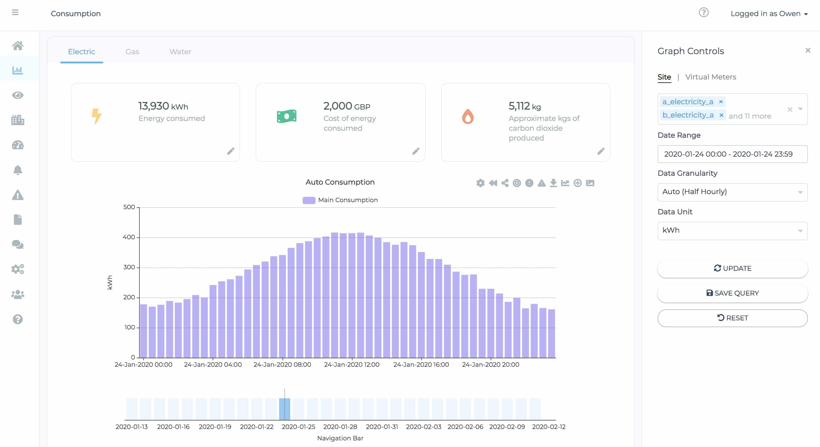 Screenshot of the Surple analytics features