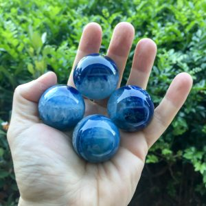 Blue agate sphere