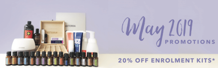 Save 20% on doTERRA essential oil enrolment kits in Map 2019 with Melanie Surplice