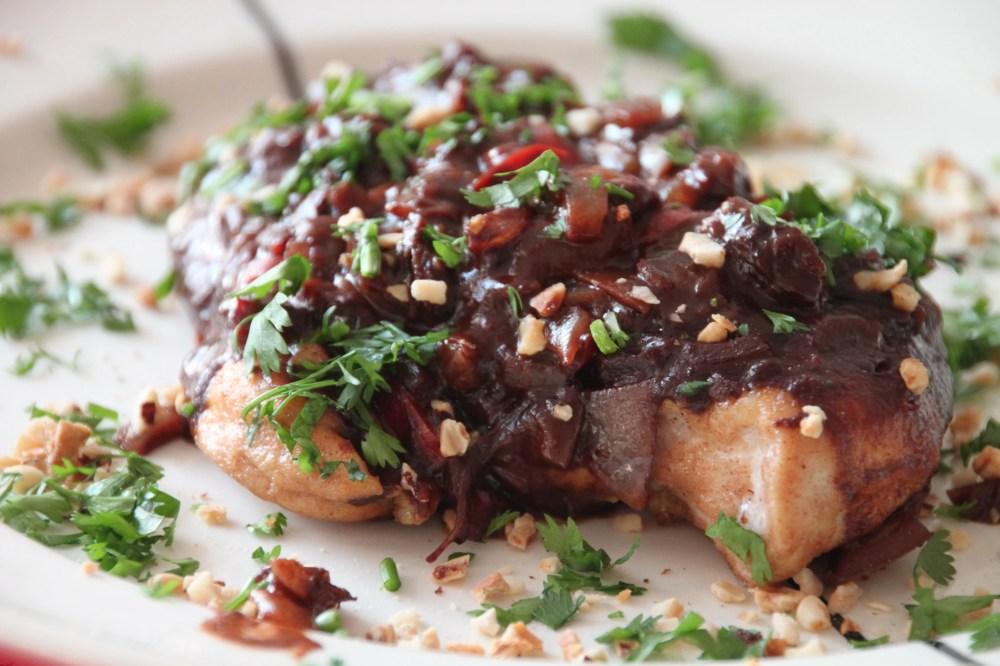 Mexican style chocolate chicken