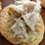 creamy date snack with smoked mackerel