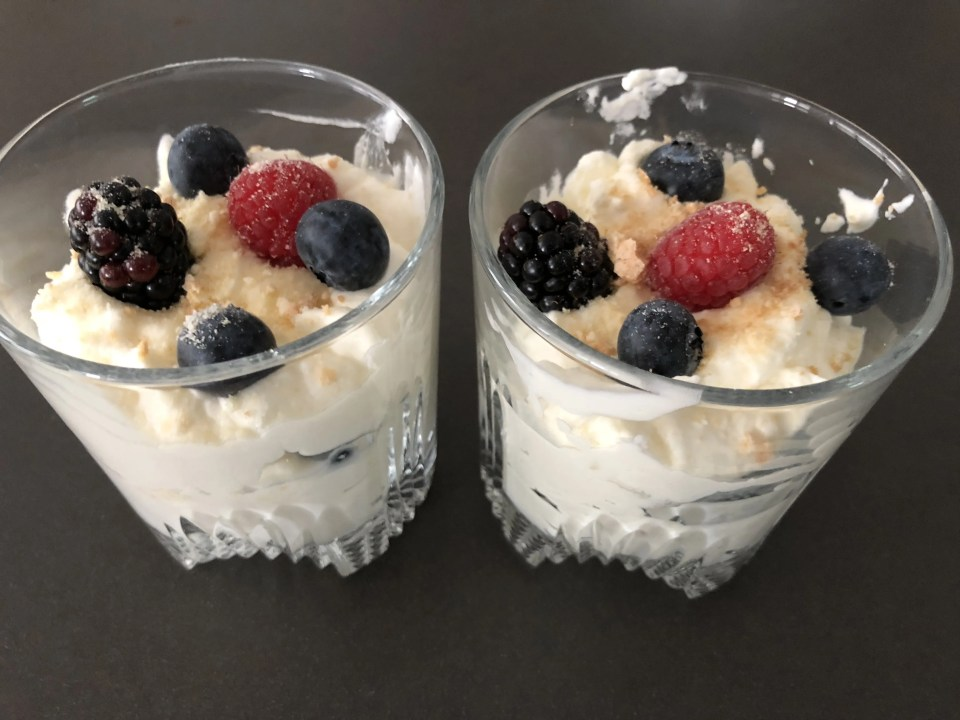 red fruit mascarpone mousse