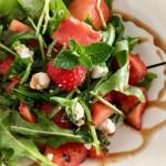 watermelon strawberry salad