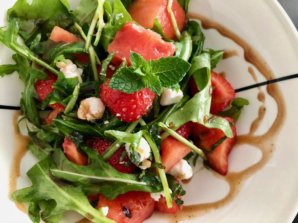 watermelon strawberry salad