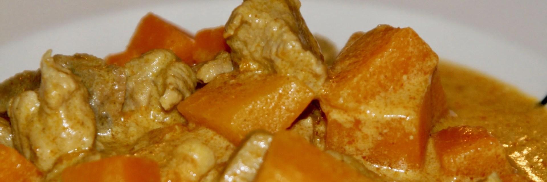 Thai pumpkin curry with pork