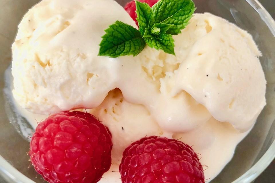 machineless homemade vanilla ice