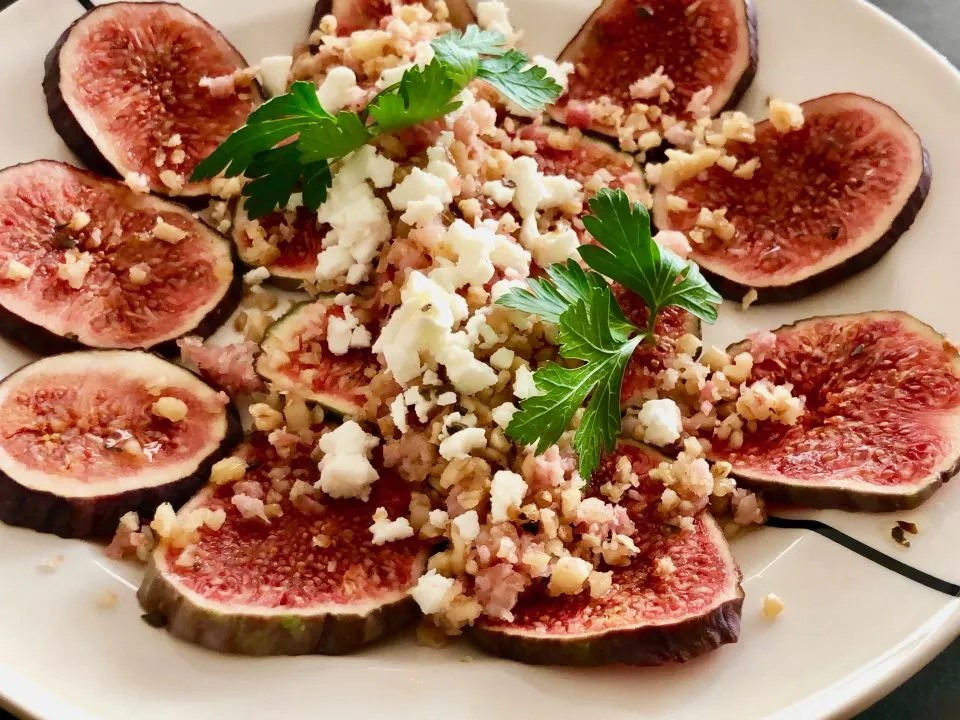 fresh fig carpaccio