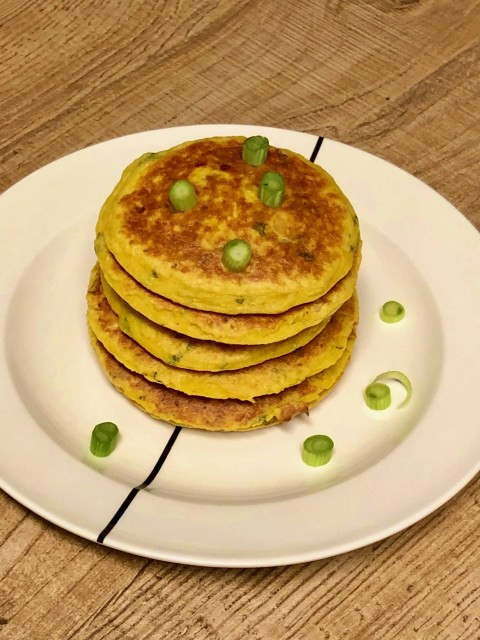 healthy Indian inspired pumpkin pancakes