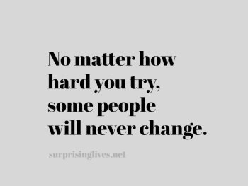some people never change updated quote