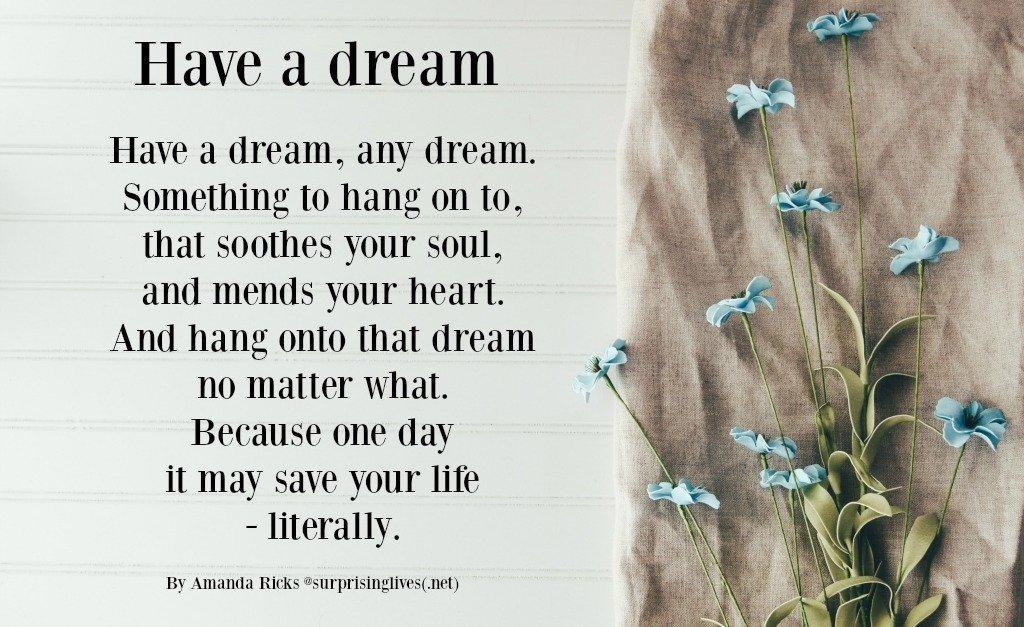 dream quote by amanda ricks via surprisinglives.net