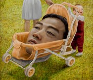 "Tetsuya Ishida, ""On Holiday,"" approx. 1999. Acrylic on canvas. Courtesy of private collection. © Estate of Tetsuya Ishida"