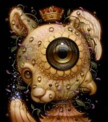 Surrealist Dog Creature by Naoto Hattori