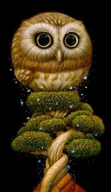 Surrealist Owl Creature by Naoto Hattori