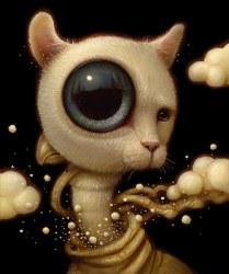 Surrealist Cat Creature by Naoto Hattori