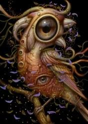 Surrealist Bird Creature by Naoto Hattori