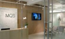 Generation 244 permanently installed in a corporate reception in Manhattan.
