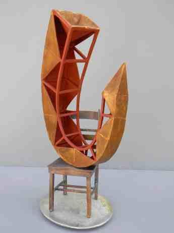 """Quiescent"" by D. W. Martin 20""x10""x7"" Cast Bronze, Patia, Paint, Tin Base"