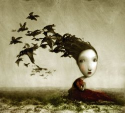 Crows by Nicoletta Ceccoli