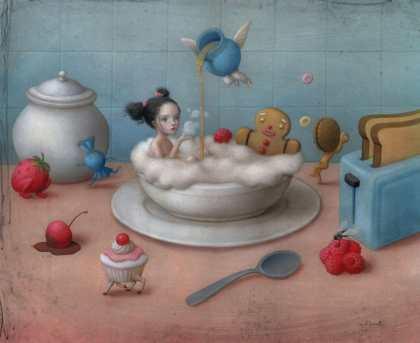 Eat me, drink me by Nicoletta Ceccoli