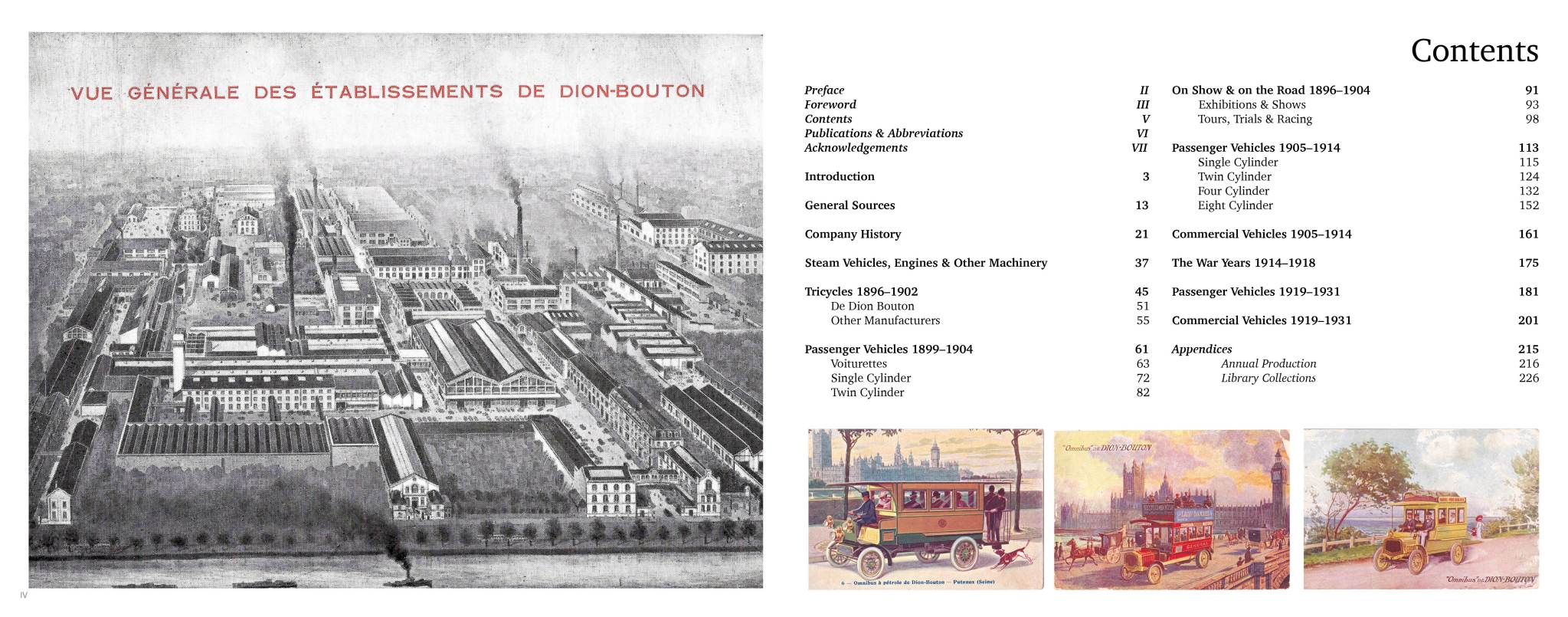 Sample Page | Content page | De Dion Bouton - The Essential Library & Source Book 1888 – 1931