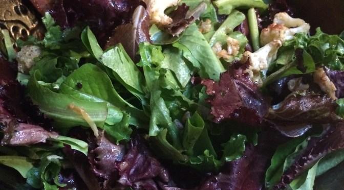 Salad of Roasted Cauliflower and Olives