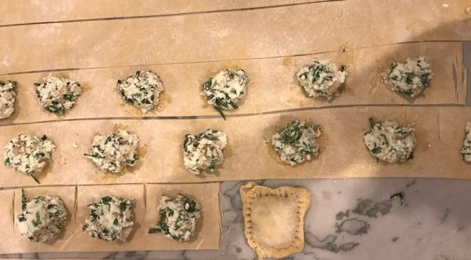 Caramelized Shallots, Spinach and Ricotta Ravioli