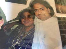 Thanga Mami with one of her youngest son Pradeep
