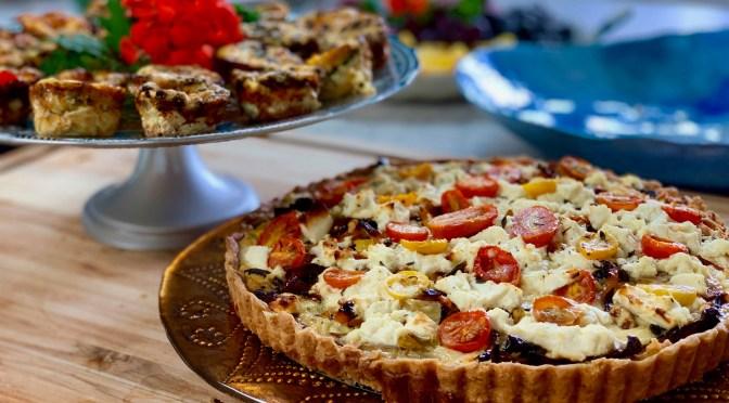 Mediterranean Roasted Veggie Tart