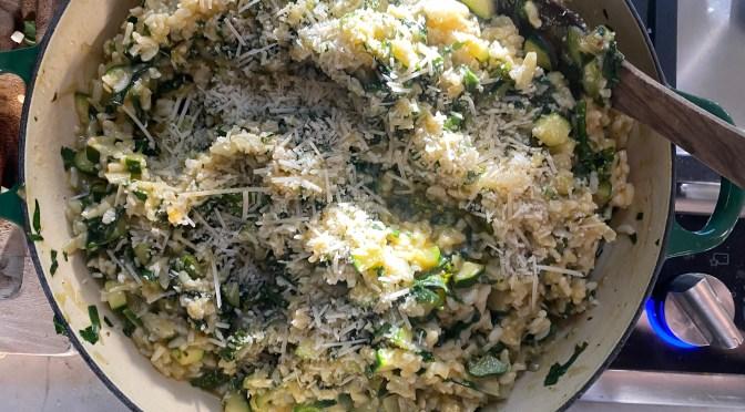 Zucchini Chard Risotto