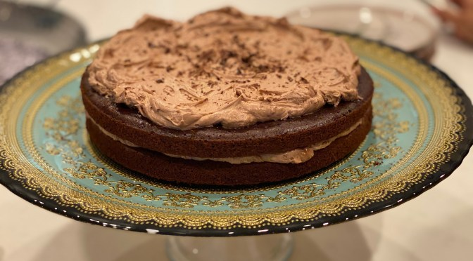Mexican Chocolate Cake with Chocolate Buttermilk Frosting
