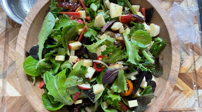 Apple Date Salad with Nuts and Seeds