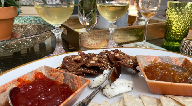 Chardonnay, Goat Cheese and Crackers. The Perfect Pairing