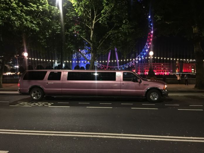 Pink 13 Seater Ford Excursion Limousine London