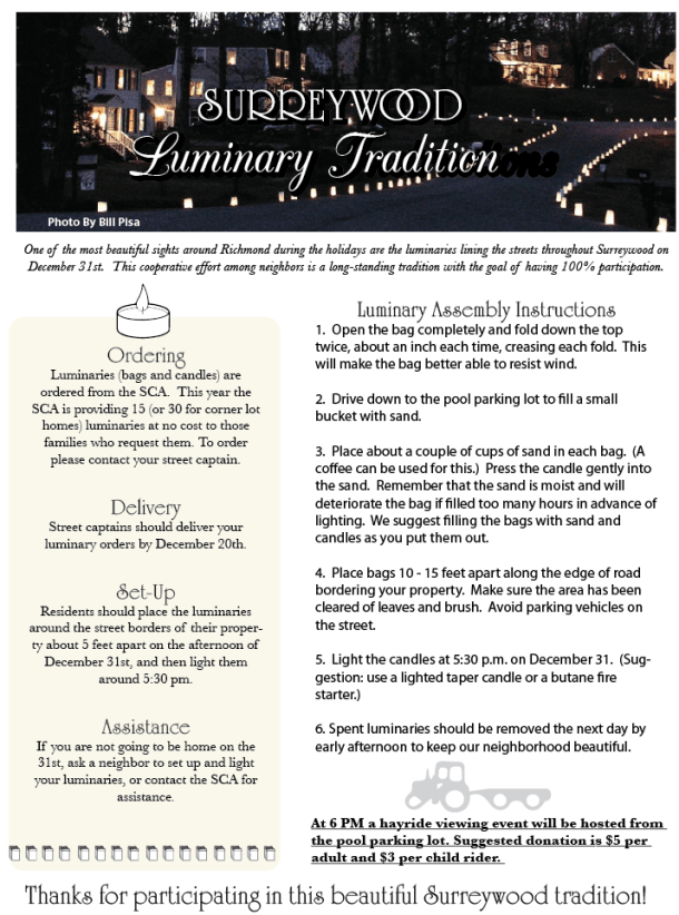 Surreywood Luminary Info