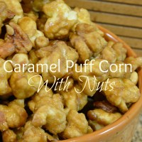 Caramel Puff Corn with Nuts - Delicious Fall Treat!!