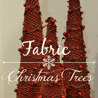 DIY Fabric Christmas Trees - Simple Holiday Decor