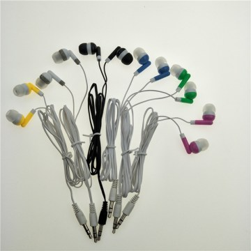 Stereo in ear earphone  cell phone earbud  headphone  6color  dhl fedex 500pc  lot