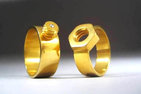 New Fashion Wedding Ring Buy Nut And Bolt Wedding Rings