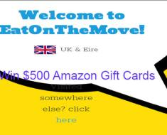 www.eatonthemove.com EatOnTheMove Survey 2020 Win $500 Amazon Gift Cards