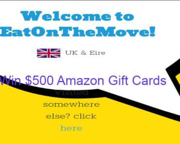 www.eatonthemove.com EatOnTheMove Survey 2020 Win $500 Amazon Gift Cards