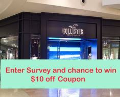 www.tellhco.com Hollister Customer Experience Survey Win $10 off Code