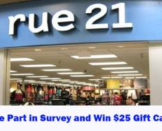 Rue21 Feedback Survey