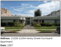 A Streamline Moderne courtyard apartment complex.